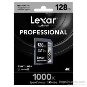 Lexar 128Gb 1000X Professional Sdxc Uhs-Iı-150Mb/Sn. (Class 10) U3 Hafıza Kartı