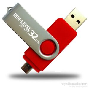 Hi-Level OTG Smart 32 GB 2.0 Kırmızı USB Bellek HLV-USB20K/32G