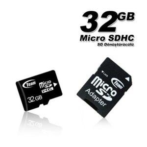 Team 32GB Micro SD Class2 Hafıza Kartı (SD Adaptör) TMMSD32GC2