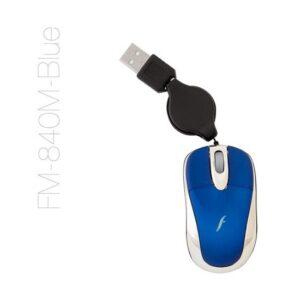 Frisby FM-840M Mini Makaralı USB Optik Mouse Mavi