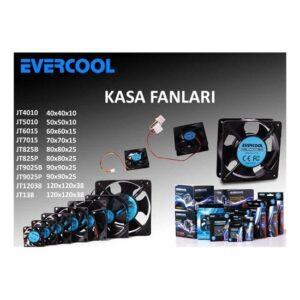 Evercool JT5010 50*50*10mm Kutulu Kasa Fanı