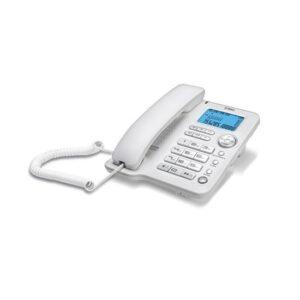 Ttec - Tk3800 Kablolu Telefon - Beyaz & Gümüş - Tk3800(6400)