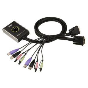 2 Port Usb 2.0 Dvı Kvmp™ (Keyboard/Video Monitor/Mouse) Periferi Switch, Hoparlör Ve Mikrofon Bağlantısı Mevcut, Masaüstü Tip, Kvm Bağlantı Kablosu Ürün Beraberinde Gelmektedir
