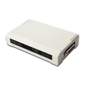 Digitus 3 Port Fast Ethernet Print Server, 2 X Usb 2.0 Port, 1 X Db-36-Pin Erkek Centronics, 1 X Rj45