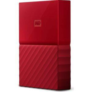 """WD My Passport 3TB2,5"""" USB 3.0 Kırmızı Taşınabilir Disk WDBYFT0030BRD"""