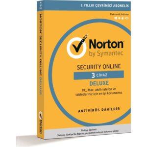 Norton Security Deluxe / 3 Cihaz / 1 Yıl Dijital Lisans