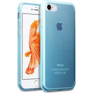 Case 4U Apple iPhone SE 2020 / iPhone 8 / iPhone 7 Kılıf Ultra İnce Silikon Mavi