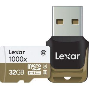 Lexar 32GB 1000X MicroSDHC High Speed Hafıza Kartı + Reader Class10 U3 (LSDMI32GCBEU1000R)