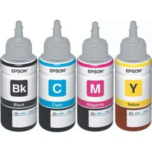 Epson EcoTank L210 Orijinal Siyah + Sarı + Mavi + Kırmızı 4 Renk set Ekonomik Yazıcı Mürekkep Kartuş