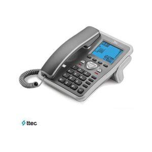 T-Tec Tk-6105 Masaüstü Telefon Titanyum/Gümüş