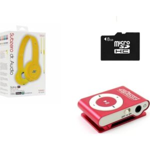 Subzero MP3 Player + 8 GB Hafıza Kartı + Subzero Sarı Kulaklık