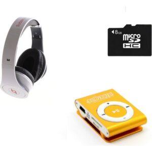 Subzero MP3 Player + 8 GB Hafıza Kartı + Subzero Beyaz Kulaklık