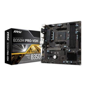 MSI AMD B350M PRO-VDH AM4 Ryzen/Athlon DDR4 USB3 m.2 Micro ATX Anakart