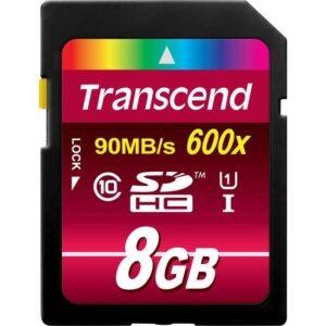 Transcend 8 Gb 90 Mb/S 600X Hafıza Kartı
