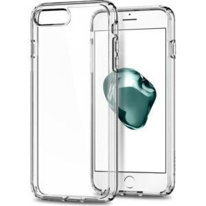 Spigen Apple iPhone 8 Plus - iPhone 7 Plus Kılıf Ultra Hybrid 2 Crystal Clear - 043CS21052