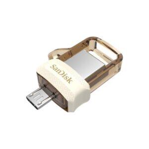 SanDisk Dual Drive M3.0 OTG 64GB Gold Usb Bellek SDDD3-064G-G46GW