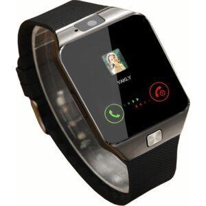 Elegante Plata Watch Sim Destekli TuruncuOnline Zarif Gümüş Saat Bluetooth