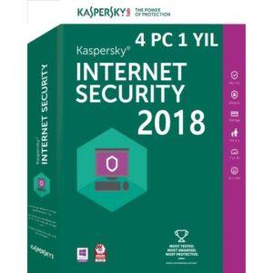 Kaspersky İnternet Security 4 Pc 1 Yıl