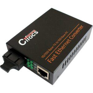 Cifocs CFC1100S25 10/100M Single Mode 25 Km SC Fiber Optik Ethernet Medya Dönüştücü