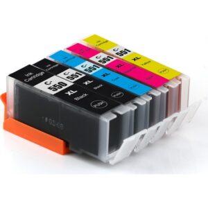 Premium® Canon Pıxma İx6850 Uyumlu 5 Renk Yüksek Kapasite Muadil Kartuş Seti