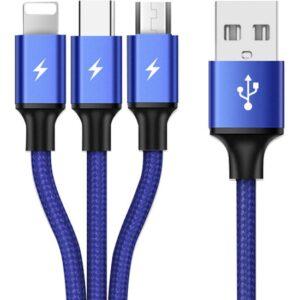 Yukka Hızlı Şarj Cep Telefonu USB Şarjı Örgülü 1.2 m Veri Kablosu