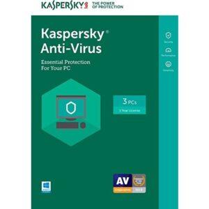 Kaspersky Anti-Virus 3 Kullanıcı 1 Yıl Eds