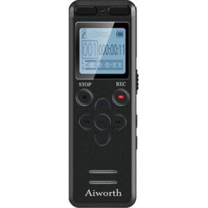 Aiworth 1160 16GB Şifre Korumalı Dijital Ses Kayıt Cihazı (Yurt Dışından)