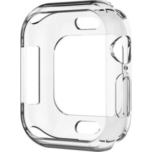 Microsonic Apple Watch Series 6 44mm Kılıf 360 Full Round Soft Silikon Şeffaf