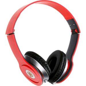 Glr Tech E-12 Stereo Mikrofonlu Kulak Üstü Kulaklık-Kırmızı