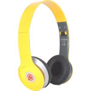 Glr Tech E-12 Stereo Mikrofonlu Kulak Üstü Kulaklık-Sarı