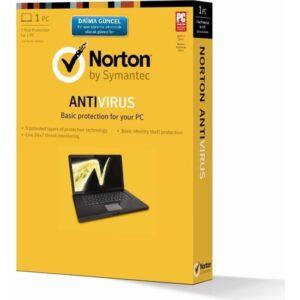 Norton Antivirüs 2018 Kutu TR 1PC 1 Yıl