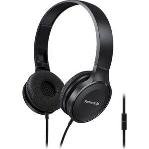 Panasonic RP-HF100ME-K Siyah Kablolu Kulak Üstü Mikrofonlu Katlanabilir Stereo Kulaklık