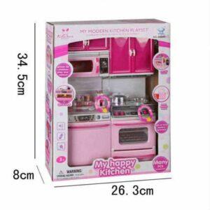Bebek Hediye-Oyuncak Mutfak Seti pilli Işıklı Oyuncak Şef Mutfak Seti 2'li- Eğitici Kız Oyuncakları