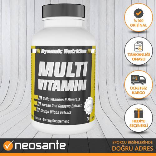 DYNAMIC Multivitamin 30 tablet + HEDİYE