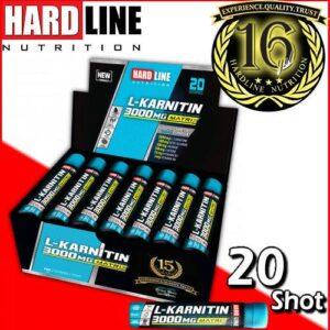 Hardline L-Karnitin 3000 Mg 30 Ml x 20 Ampül L-Carnitine 16 YILLIK TECRÜBE KALİTELİ ÜSTÜN İÇERİK