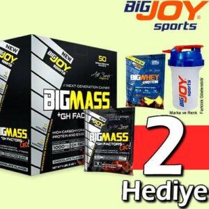 BigJoy BigMass Gainer 50 Servis 5000 Gr Karbonhidrat Tozu MİX 2 ÇİKOLATA, ÇİLEK, MUZ Pro Gainer Mass