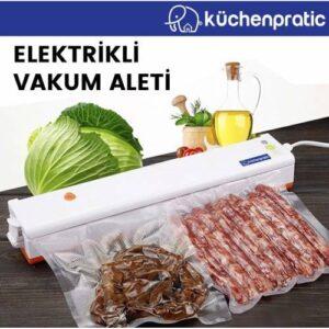 Küchen Pratic Ev Tipi Elektrikli Vakum Makinesi - Gıda Vakum Makinesi - 10 Poşet Hediye - Turuncu