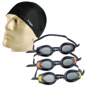 Deniz Havuz Yüzücü Gözlüğü Likralı Bez Bone Seti-21085