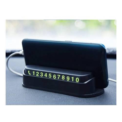 Araç içi torpido üstü mıknatıslı aç kapa ön cam park tel telefon numarası telefon tutucu numaratör