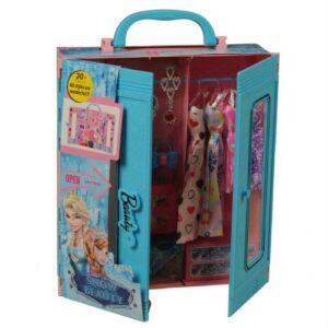 Frozen Muadili Beauty Fashion Star, Çantalı Giysi Dolabı,Gardrop 30+ Kıyafet, Ayakkabı, Çanta