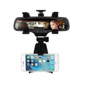 Oto Araç İçi Dikiz Aynası Telefon Tutucu Tutacağı 360 Derece Dönen Stant
