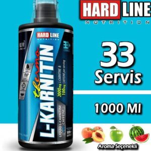Hardline L-Karnitin Thermo 1000 ML 33 Servis 2000 MG L Carnitine İçerir Hardlıne Aynı Gün Kargo