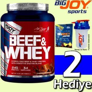 Bigjoy Sports Beef Protein - Whey Protein Tozu Karışım 1088 Gr 34 Servis Çikolatalı Big Joy Hediyeli