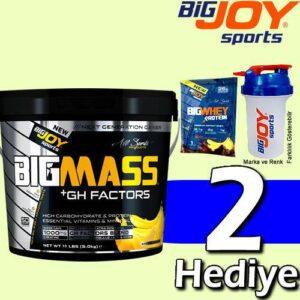 BigJoy Big Mass +GH Factors 5000 Gr Karbonhidrat Tozu Pro Mass Gainer Big Joy 2 HEDİYELİ