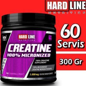 Hardline Creatine 300 Gr %100 Mikronize Kreatin 17 YILLIK TECRÜBE Kaliteli Hammadde Hardlıne 60 Serv