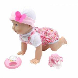 Kıkırdayan ve Emekleyen Sevimli Oyuncak Bebek 40 Cm-S-16305