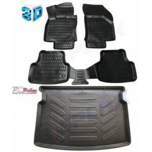 Volkswagen Golf 7 3D Paspas+Rizline Bagaj Havuzu 3D İkili Set FV10