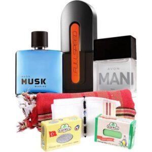 Avon Full Speed Musk Marine Man Üç Erkek Parfümlü Kişisel Bakım Seti