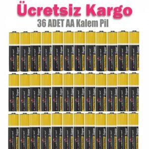36 AD.P.Master AA 1.5 Volt A Kalite Kalem Pil (15G-2U4 R6P UZAKTAN KUMANDA-RADYO-EL FENERİ PİLİ