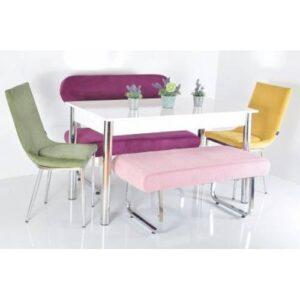6 Kişilik Masa Sandalye Takımı Banklı Mutfak Masası Bank Takımı Yemek Masası Masa Takımı Kaktüs